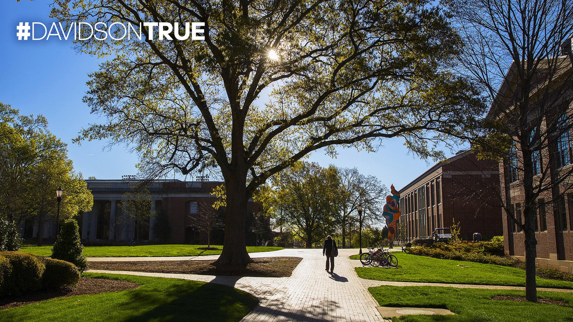 Campus with #DAVIDSONTRUE