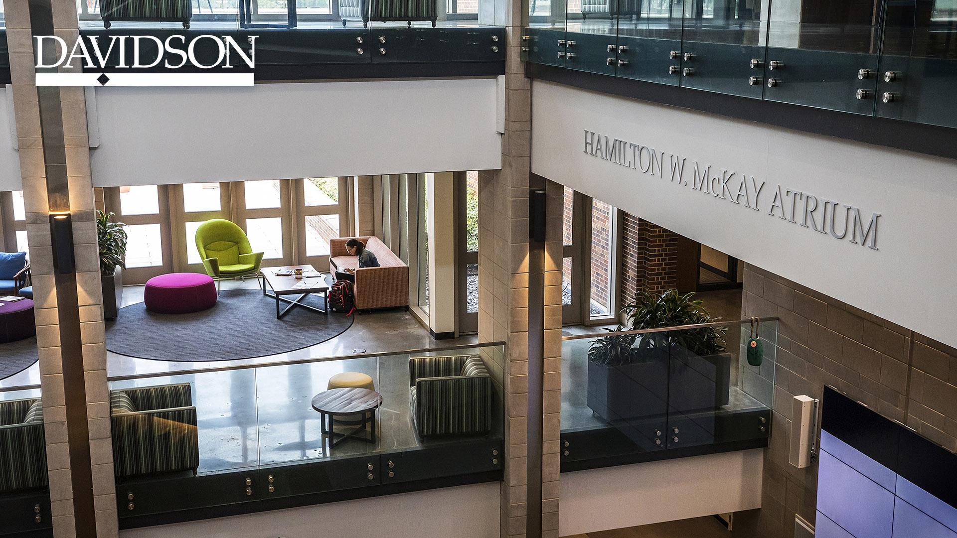 Wall Atrium with Davidson Bar and Diamond Logo