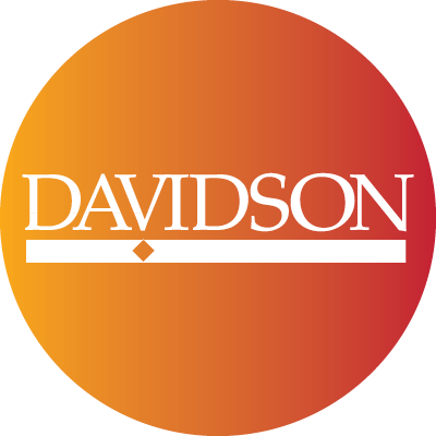 Twitter yellow to red gradient with davidson logo
