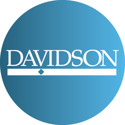 Twitter Light to Dark Blue gradient with davidson logo
