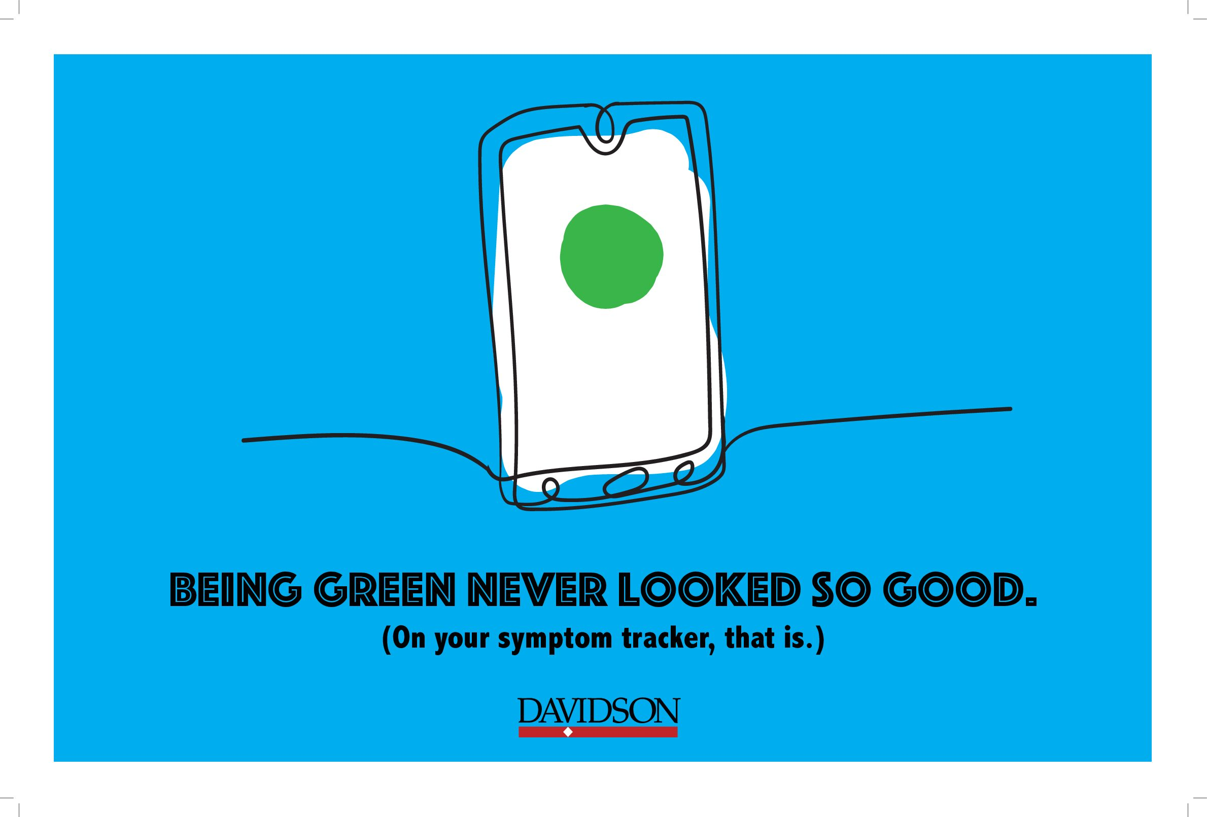 Being green never looked so good. On your symptom tracker, that is.